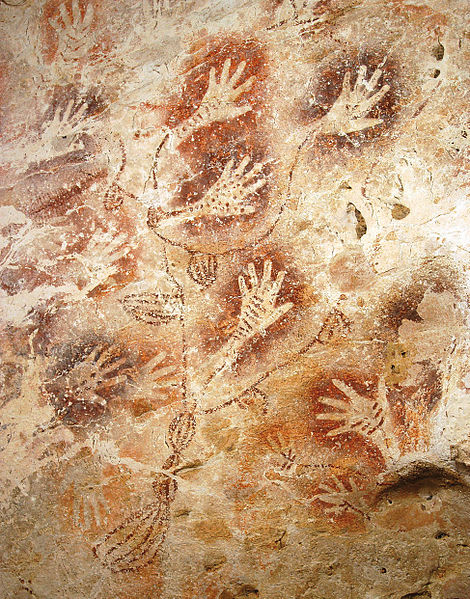 Ancient rock art of hands
